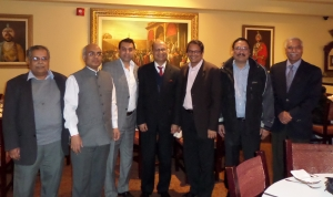 Aditya Tawatia, President OFBJP BC, OFBJP Head Sri Vijay Chauthaiwale with Mr. Vishnu Prakash, High Commissioner of India to Canada and others. Photo: Submitted